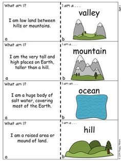 LANDFORMS AND BODIES OF WATER QQT - This is a great set of Quiz-Quiz-Trade cards to teach and review 28 different landforms and bodies of water with your students. Quiz Quiz Trade is a wonderfully engaging cooperative structure developed by Dr. Spencer Kagan. It will quickly become one of you and your students favorite activities! $