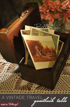 A Vintage Travel Themed Wedding Wishes/Guestbook Table   Styled by The Wedding Bistro at Bellenza.