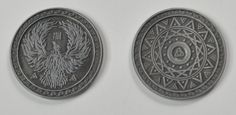 Fantasy Coin HQ Gold Coins are made to be unlike any coin in the world. A perfect addition to role playing games, movie production, or just for fun! Us Coins, Silver Coins, Nerdy Kid, Magic Coins, Magic Sets, The Witcher, Tabletop Games, Coin Collecting, Cartography