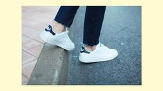 3998dba1fe7 Adidas Stan Smith Navy, Nike Air Max, Sneakers Street Style, Classic  Sneakers,
