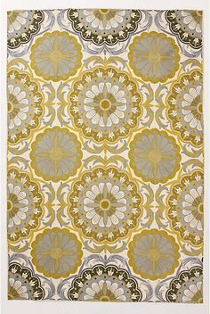festival rug in gold from anthropologie