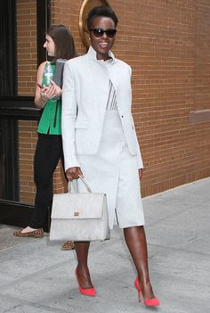 Lupita Nyong'o Turns Up the Power of the Pump. Chic-ness personified.