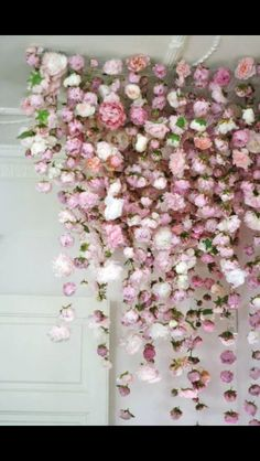 Falling flowers illusion, beautiful at a wedding