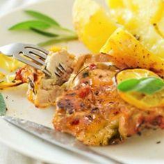 Recipe for spicy lemon chicken.