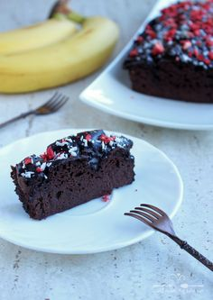 Ciasto czekoladowe (brownie) z czerwonej fasoli i banana - Odżywiaj się zdrowo