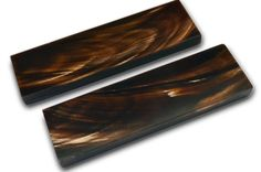 5 inch Brown Buffalo Horn Brown Streaks Scales by WholeEarthSupply