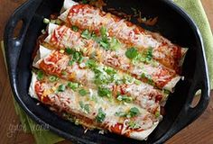 Made these zucchini enchiladas last night! the recipe was super easy and delish!