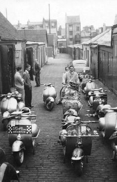 Brighton Vespa Club, Cavendish Mews, Brighton