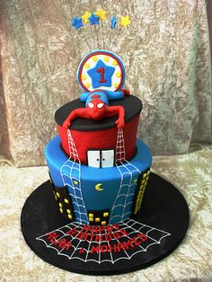 cake dubai, birthday parti, awesom cake, nathan birthday, spiderman cake, cake idea, cakes, birthday cake, kid