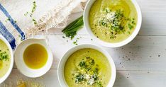 For an easy no-fuss midweek meal, try this creamy broccoli and 3-cheese soup made in the slow-cooker.