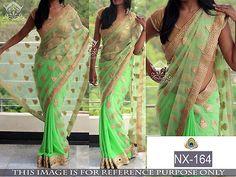 Partywear Saree Wedding Bollywood Stylish Sari Designer Pakistani Indian NX164.U