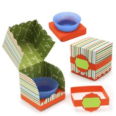 View Design: 'no mess' scalloped cup cake box