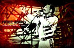 My own created wallpaper of my Hero:) Freddie Mercury