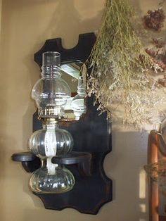 1000 images about primitive oil lamps on pinterest oil for Wooden kerosene lamp holder