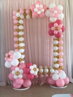 How to Create a Beautiful Balloon Arch Party Photo Frame Balloon Decorations Party, Balloon Garland, Birthday Party Decorations, Baby Shower Decorations, Birthday Parties, Baby Decor, Balloon Frame, Party Photo Frame, Birthday Photo Frame