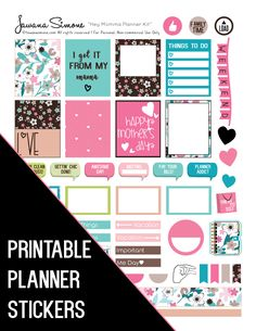 Glam up your planner or personal calendar with these functional Mother's Day stick Printable Planner Stickers, Free Printable, Mambi Stickers, Free Stickers, Printables, Free Planner, Happy Planner, Project Life, Create 365 Planner