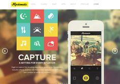 Hipstamatic 20 Gorgeous Mobile App Landing Pages Landing Page Examples, App Landing Page, Web Design Trends, App Design, Professional Logo Design, Ui Inspiration, User Interface Design, Photo Projects, Mobile Design