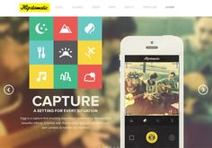 Hipstamatic 20 Gorgeous Mobile App Landing Pages