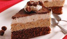Bude sa rozplývať na jazyku: Jadranská torta - Pluska. European Dishes, Czech Recipes, Eclairs, Fancy Cakes, Something Sweet, No Bake Cake, Amazing Cakes, Sweet Recipes, Cheesecake