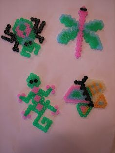 Bugs. Pinning for London who loves melty beads!