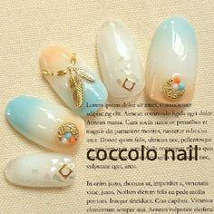 夏らしく♪ Instagram→coccolo_nail #coccolo_nail #ネイルブック