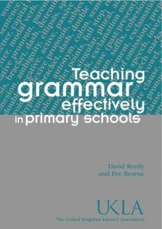 Book jacket of Teaching Grammar Effectively in the Primary School