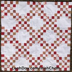 Learn how to make an easy Double Irish Chain quilt with a free video tutorial by Leah Day.