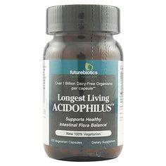 Futurebiotics Longest Living Acidophilus , 100 Vegetarian Capsules *** Trust me, this is great! Click the image. : Herbal Supplements