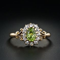 Antique Peridot and Diamond Ring, circa 1895