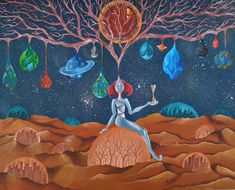 It' s a place, between dreams and reality, where past and future unite, where the Founder is watching the Universe. Past, Universe, Painting, Dreams, Future, Past Tense, Future Tense, Painting Art, Cosmos