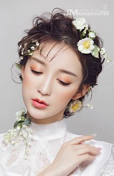 47 Ideas Flowers Photography Girl Beauty For 2019 Mixed Media Photography, Photography Editing, Creative Photography, Portrait Photography, Bride Makeup, Wedding Makeup, Image Maker, Beauty Makeup Photography, Asian Beauty