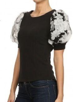 Floral sleeve top