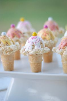 Rice Krispie Ice Cream Cones: Use the tiny cones