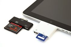 iPad CF and SD Card Readers - Upload DSLR photos onto your iPad at lightning speeds $15.00