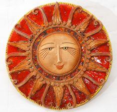 Кусок глины в ладошке: ceramiko Ceramic Wall Art, Ceramic Decor, Sun Logo, Sun Art, Moon Design, Doll Parts, Clay Projects, Polymer Clay Jewelry, Pottery Art