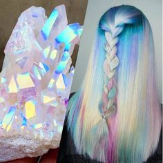 Holographic Hair Is Here And It's The Hottest Hair Trend Of .-Holographic Hair Is Here And It's The Hottest Hair Trend Of 2017 Holographic Hair Is Here And It's The Hottest Hair Trend Of 2017 - Cute Hair Colors, Hair Dye Colors, Cool Hair Color, Unicorn Hair Color, Pinterest Hair, Mermaid Hair, Mermaid Makeup, Dream Hair, Crazy Hair