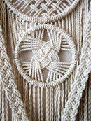 Macrame wall hanging - Intertwining - unique and stylish wall decor for your wedding, home or office. Great for photo zone. Real pine branch from the Hill Country ranch, cotton ropes. Original idea, design and handmade by Evgenia Garcia. Macrame Design, Macrame Art, Macrame Projects, Micro Macrame, Art Corde, Art Macramé, Rope Art, Macrame Plant Hangers, Macrame Patterns