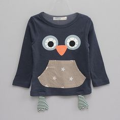 Happy Owl Tee for unisex kids fashion at colormewhimsy fall season 6