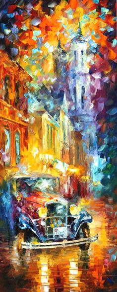 afremov's save of CULTURAL IMPRESSION — PALETTE KNIFE Oil Painting On Canvas By Leonid Afremov - Size 16x40. 10% discount coupon - deviantart10off on Wanelo