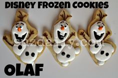 How to Make Disney Frozen Cookies – How to Make Olaf Cookies   Suz Daily