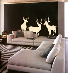 Hey, I found this really awesome Etsy listing at https://www.etsy.com/listing/150846868/wall-decal-three-deer-wildlife-outdoors