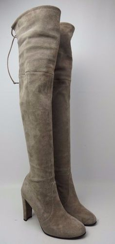 a3d6baba61b8c Stuart Weitzman Highland Over the Knee Praline Grey Suede Boots Size 7 M   grey