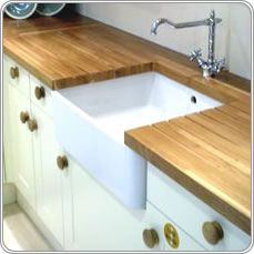 Our gallery includes photos of some recent oak kitchen worktops installation and wooden coutertops we have supplied in the UK Oak Kitchen Worktops, Victorian Kitchen, Geometric Tiles, Wooden Kitchen, Solid Oak, Home Kitchens, Kitchen Remodel, Interior Design, Belfast Sink