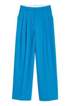 Широкие брюки - Ярко-голубой - Женщины   H&M RU 2