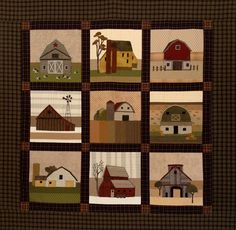 wall quilt of classic hip barn roofs