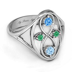 Family is forever ring.  Customize with your family's birthstones, change the metal it's made from and even engrave!