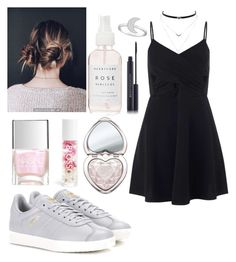 """outfit"" by kwharmony on Polyvore featuring Swarovski, Herbivore, adidas Originals, Nails Inc., Jessica Simpson, Miss Selfridge, Blossom and Too Faced Cosmetics"