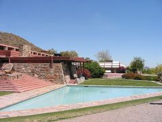 Taliesin West. 1937. Frank Lloyd Wright's winter home and studio from 1937 until his death in 1957. Built mainly by the students of Taliesin