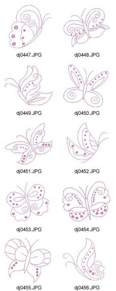 Butterflies - there are lots of design sets on this site but you have to join to…