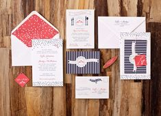 Nautical Wedding Invitations by Suite Paperie via Oh So Beautiful Paper (2)